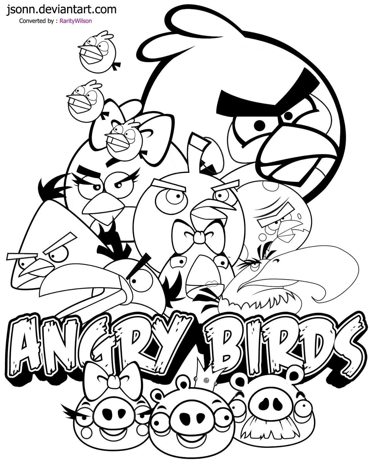 Best ideas about Angry Birds Coloring Pages For Kids Printable . Save or Pin December 2012 Now.