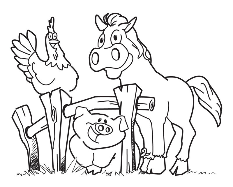 Best ideas about Animal Free Printable Coloring Sheets . Save or Pin Free Printable Farm Animal Coloring Pages For Kids Now.
