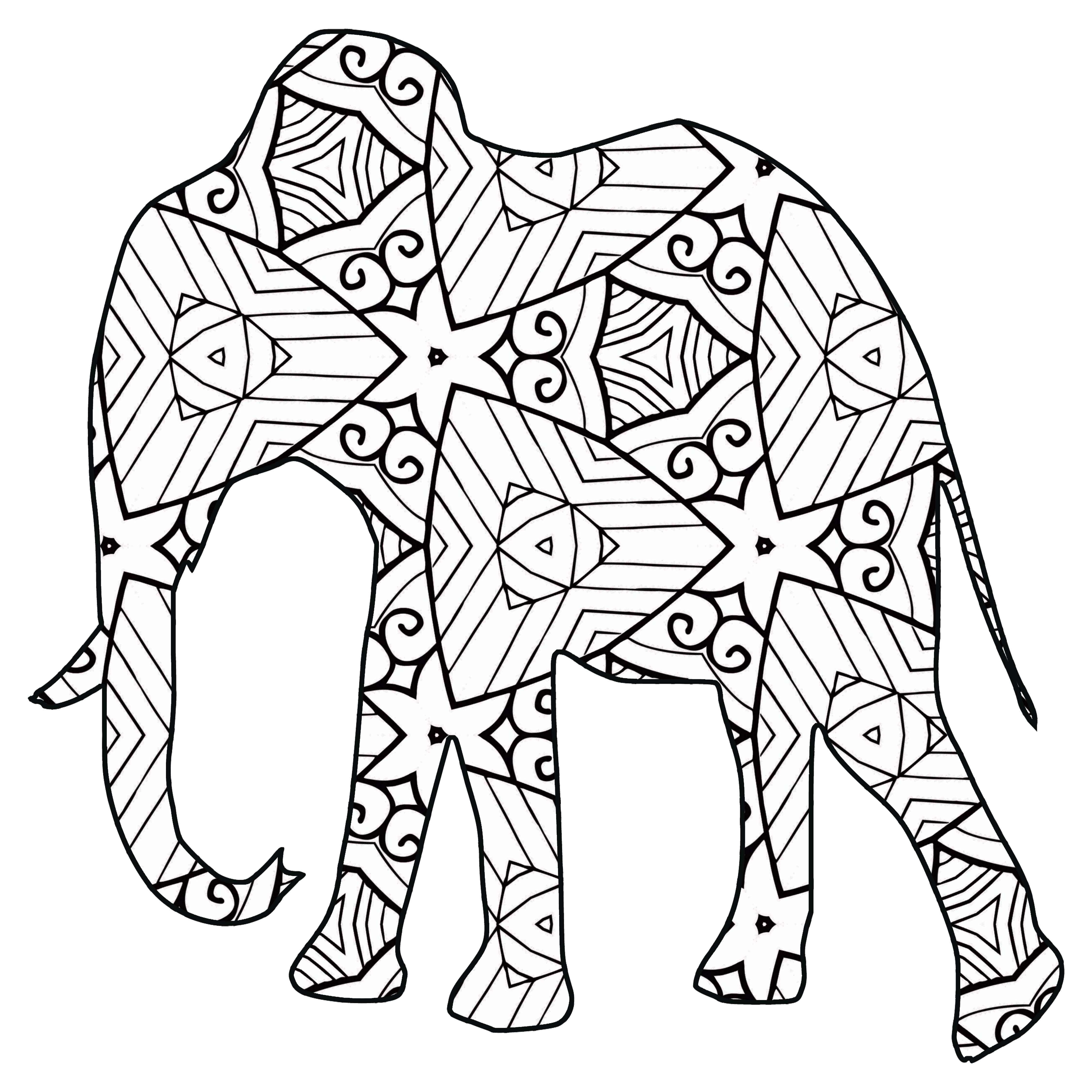 Best ideas about Animal Free Printable Coloring Sheets . Save or Pin 30 Free Printable Geometric Animal Coloring Pages Now.