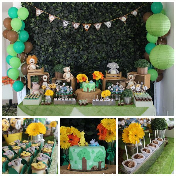 Best ideas about Animal Theme Birthday Party . Save or Pin Jungle Animal Party – 1st birthday Now.