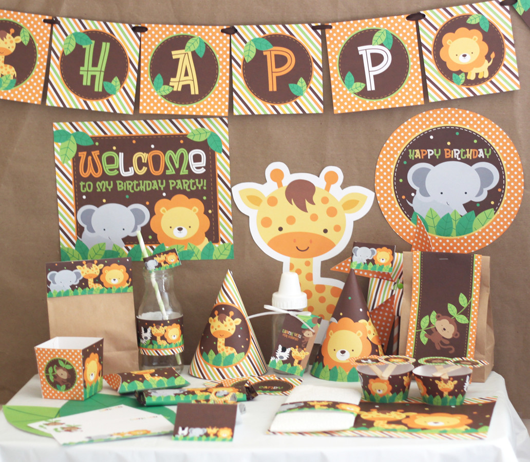 Best ideas about Animal Theme Birthday Party . Save or Pin Stockberry Studio Safari Animals Birthday DIY Printable Now.