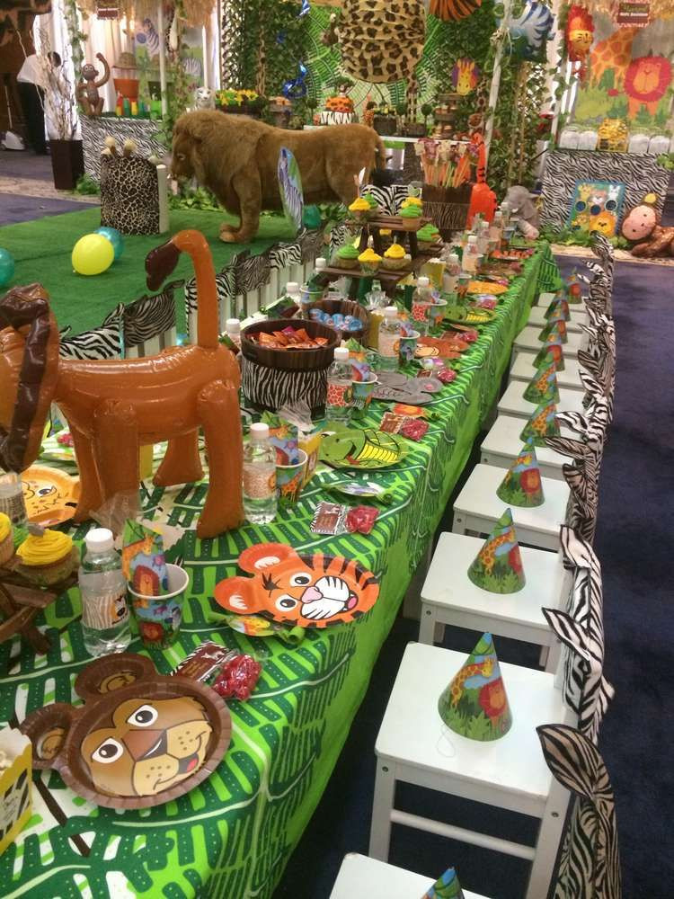 Best ideas about Animal Theme Birthday Party . Save or Pin Jungle Safari Birthday Party Ideas Now.