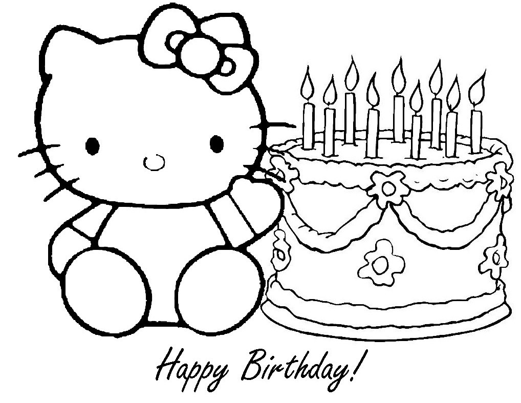 Best ideas about Anniversary Coloring Pages For Kids . Save or Pin happy birthday coloring pages for kids Now.