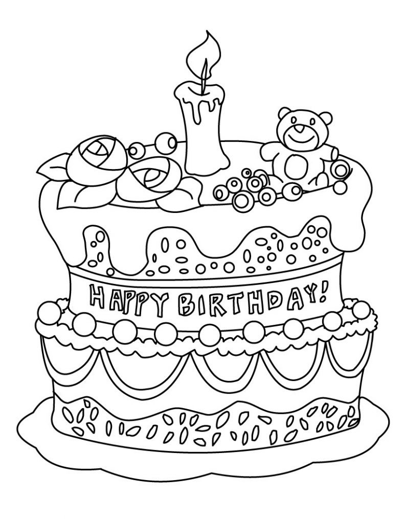 Best ideas about Anniversary Coloring Pages For Kids . Save or Pin Free Printable Birthday Cake Coloring Pages For Kids Now.