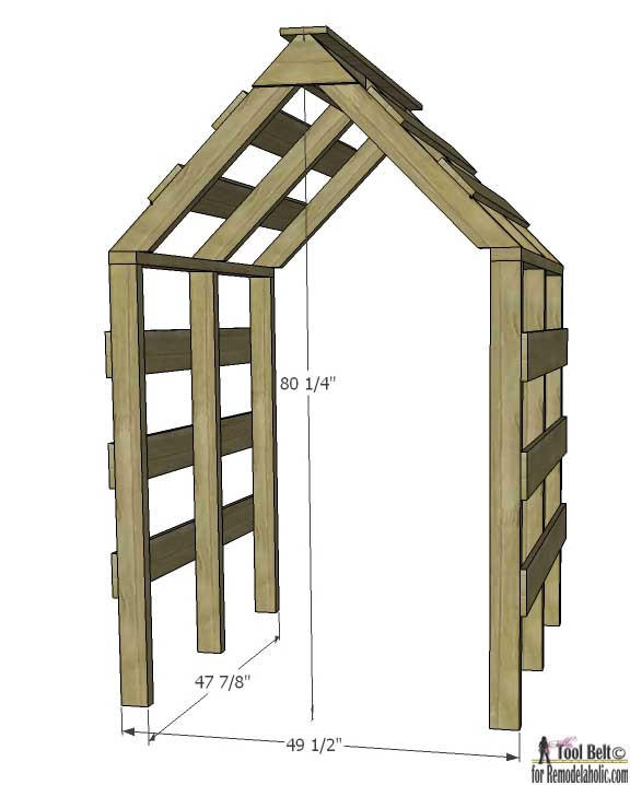 Best ideas about Arbor Plans DIY . Save or Pin Remodelaholic Now.