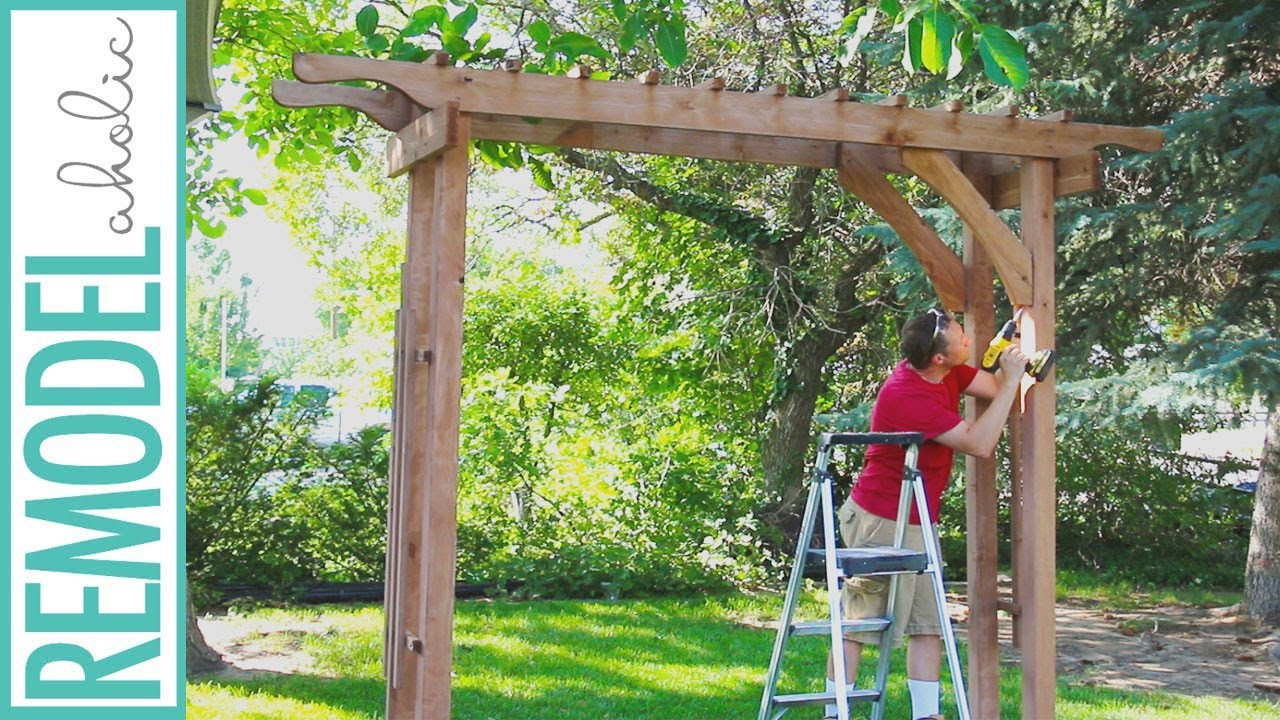 Best ideas about Arbor Plans DIY . Save or Pin How to Build a Wood Arbor for Garden Yard or Wedding Now.