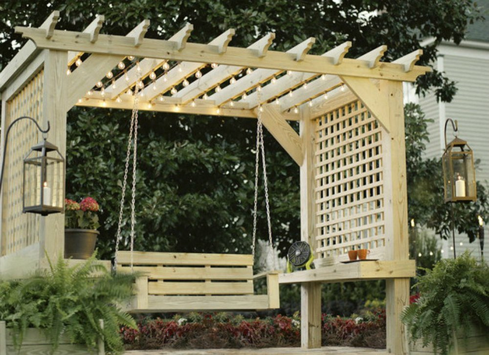 Best ideas about Arbor Plans DIY . Save or Pin DIY Backyard Ideas 9 Creative Ways to Make a Hangout Now.
