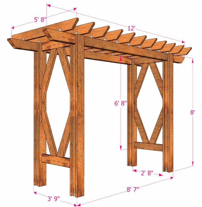 Best ideas about Arbor Plans DIY . Save or Pin Simple DIY Pergola Grape Arbor Free Building Plan A Now.