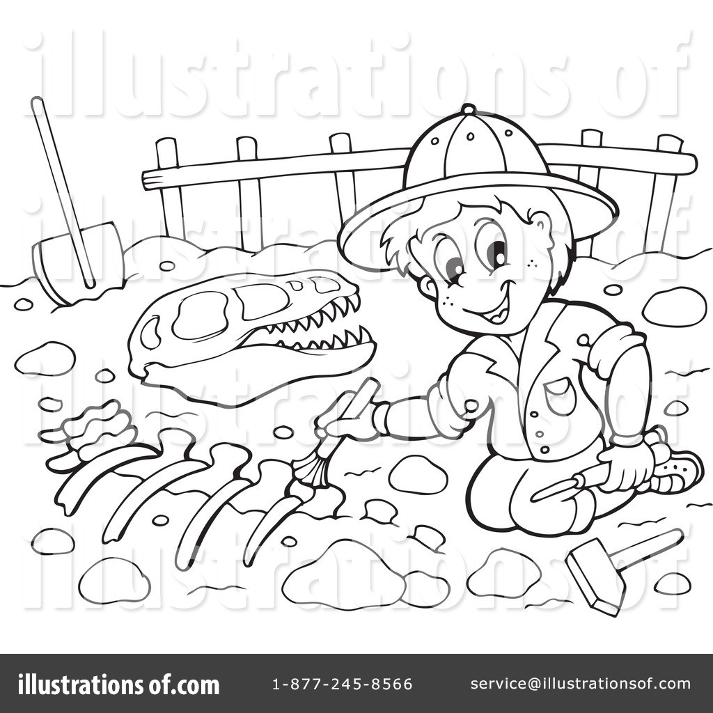 Best ideas about Archaeology Coloring Pages For Kids . Save or Pin Paleontology Clipart Illustration by visekart Now.