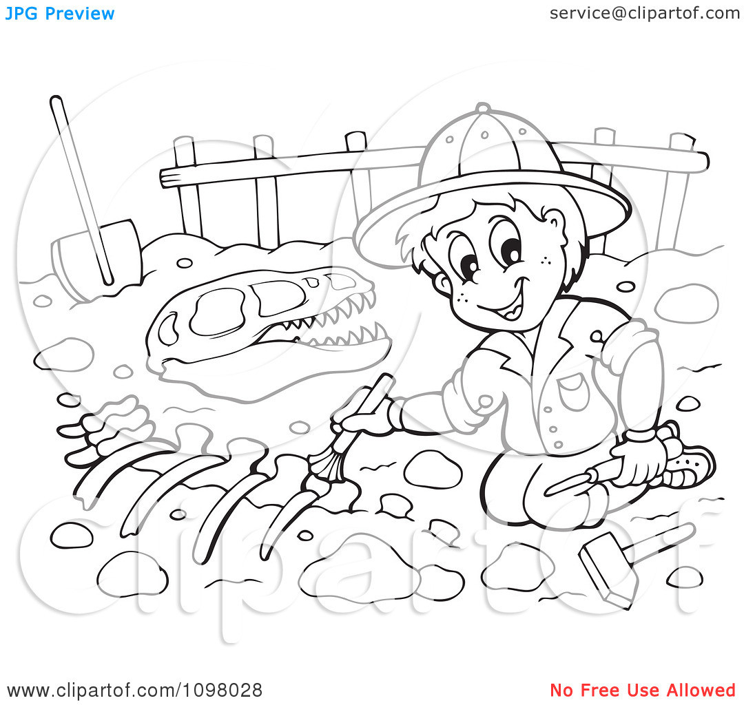 Best ideas about Archaeology Coloring Pages For Kids . Save or Pin Palaeonthologie clipart Clipground Now.
