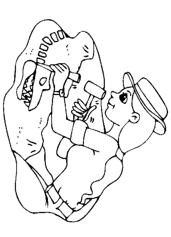 Best ideas about Archaeology Coloring Pages For Kids . Save or Pin Paleontologist Coloring Sheet Child Education Now.