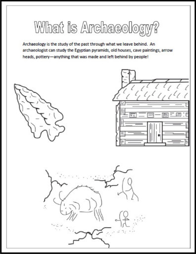 Best ideas about Archaeology Coloring Pages For Kids . Save or Pin What is Archaeology Coloring Book Page – Trowel Tales Now.