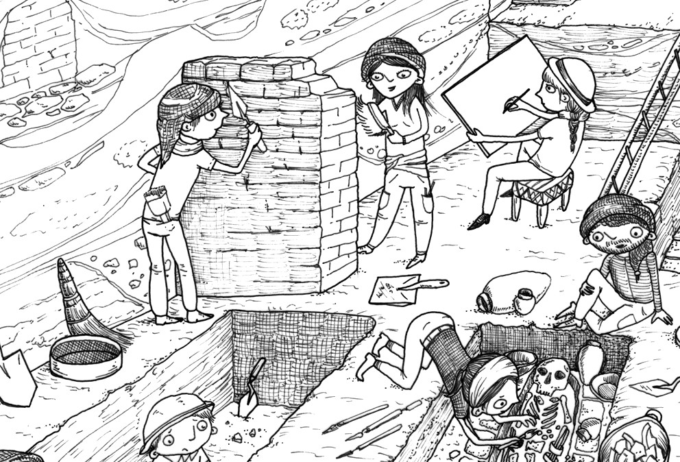 Best ideas about Archaeology Coloring Pages For Kids . Save or Pin Children's Illustration pt 2 Now.