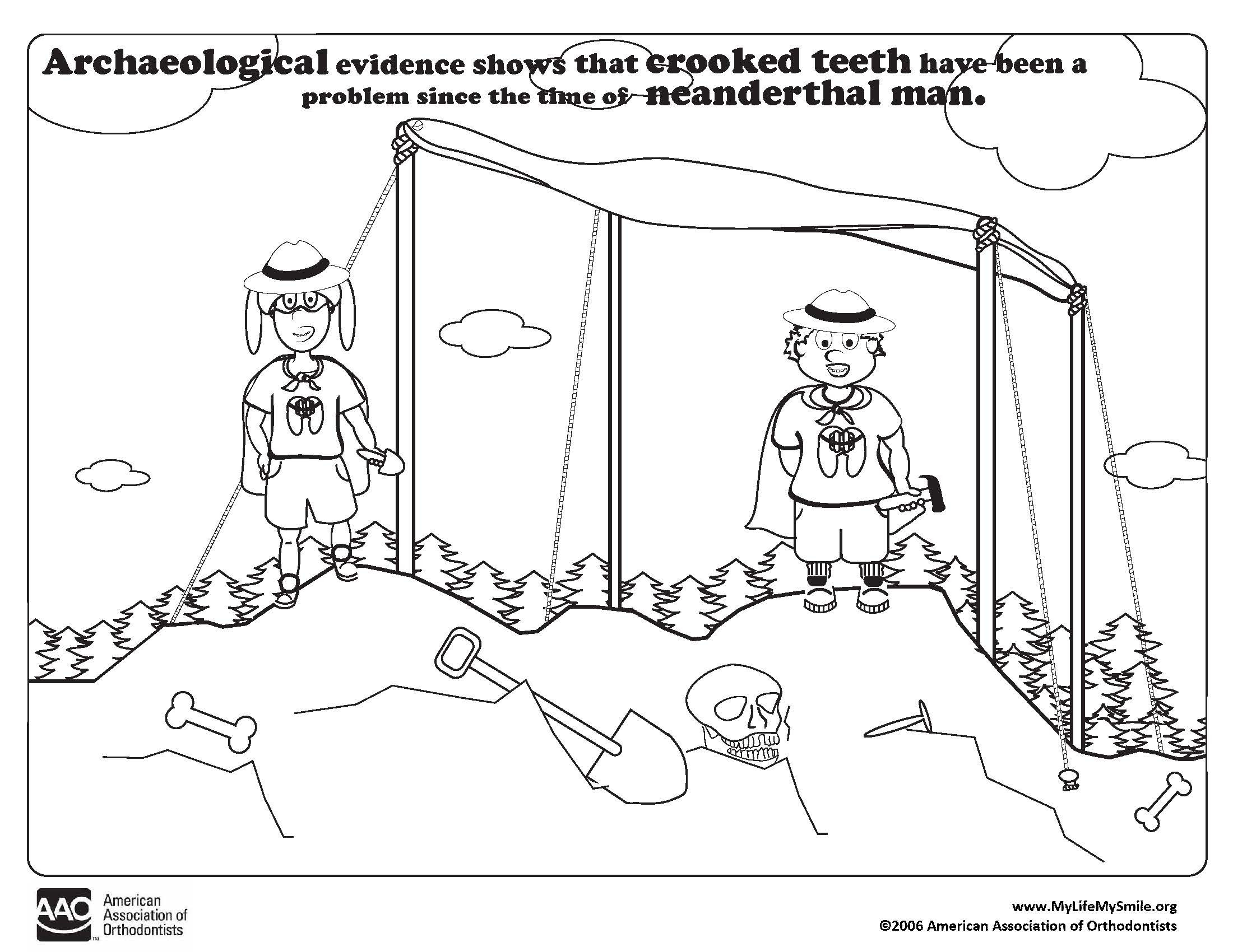 Best ideas about Archaeology Coloring Pages For Kids . Save or Pin Coloring Charts James Waters Orthodontics Now.