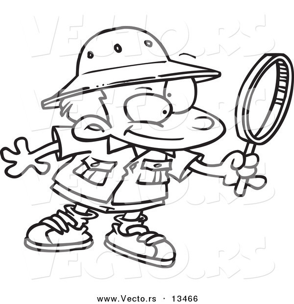 Best ideas about Archaeology Coloring Pages For Kids . Save or Pin Vector of a Cartoon Archaeology Boy Using a Magnifying Now.