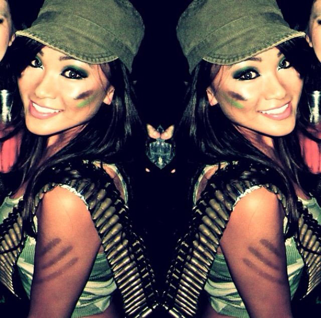Best ideas about Army Girl Costume DIY . Save or Pin Me for Halloween 2014 Army girl Sol r Camo Now.