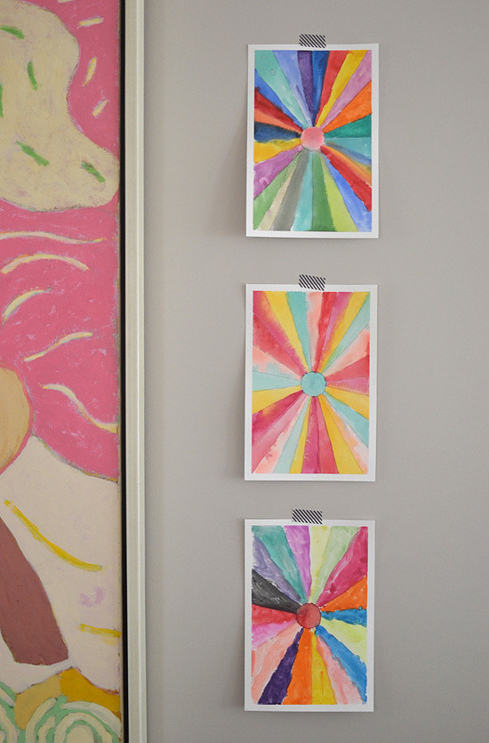 Best ideas about Art Activities For Adults . Save or Pin DIY Sunburst Paintings – Back to school Art – Math Now.