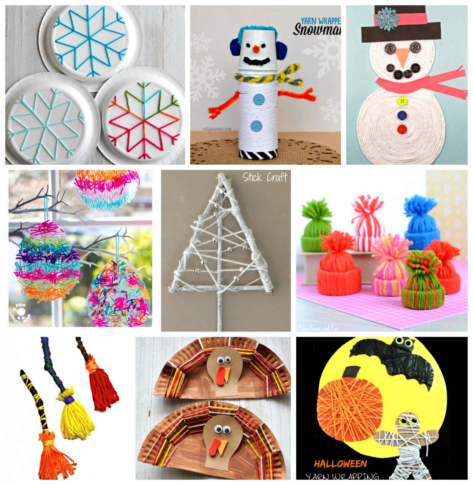 Best ideas about Art And Crafts . Save or Pin 40 Fun Fantastic Yarn Crafts – The Pinterested Parent Now.