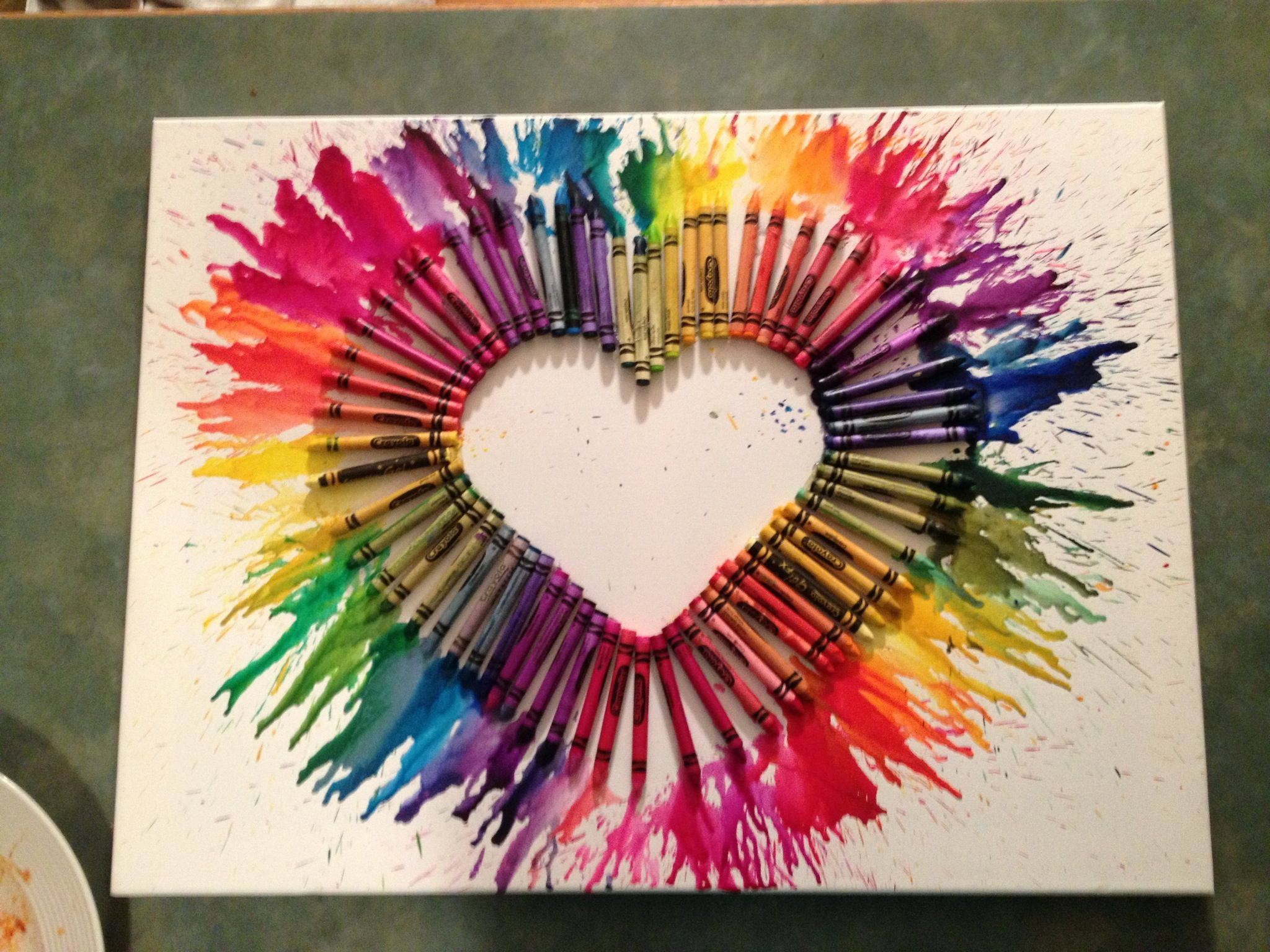 Best ideas about Art And Crafts . Save or Pin Crayon art Arts and crafts project Now.