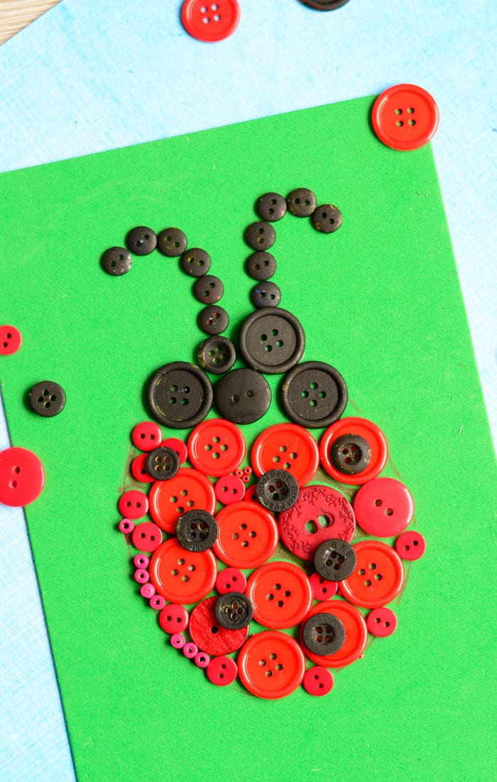 Best ideas about Art And Crafts . Save or Pin Ladybug Button Art Craft Easy Peasy and Fun Now.