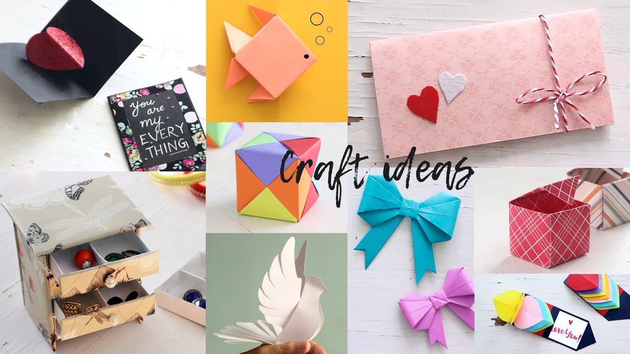 Best ideas about Art And Crafts . Save or Pin 10 Lovely Paper Crafts DIY Craft Ideas Now.