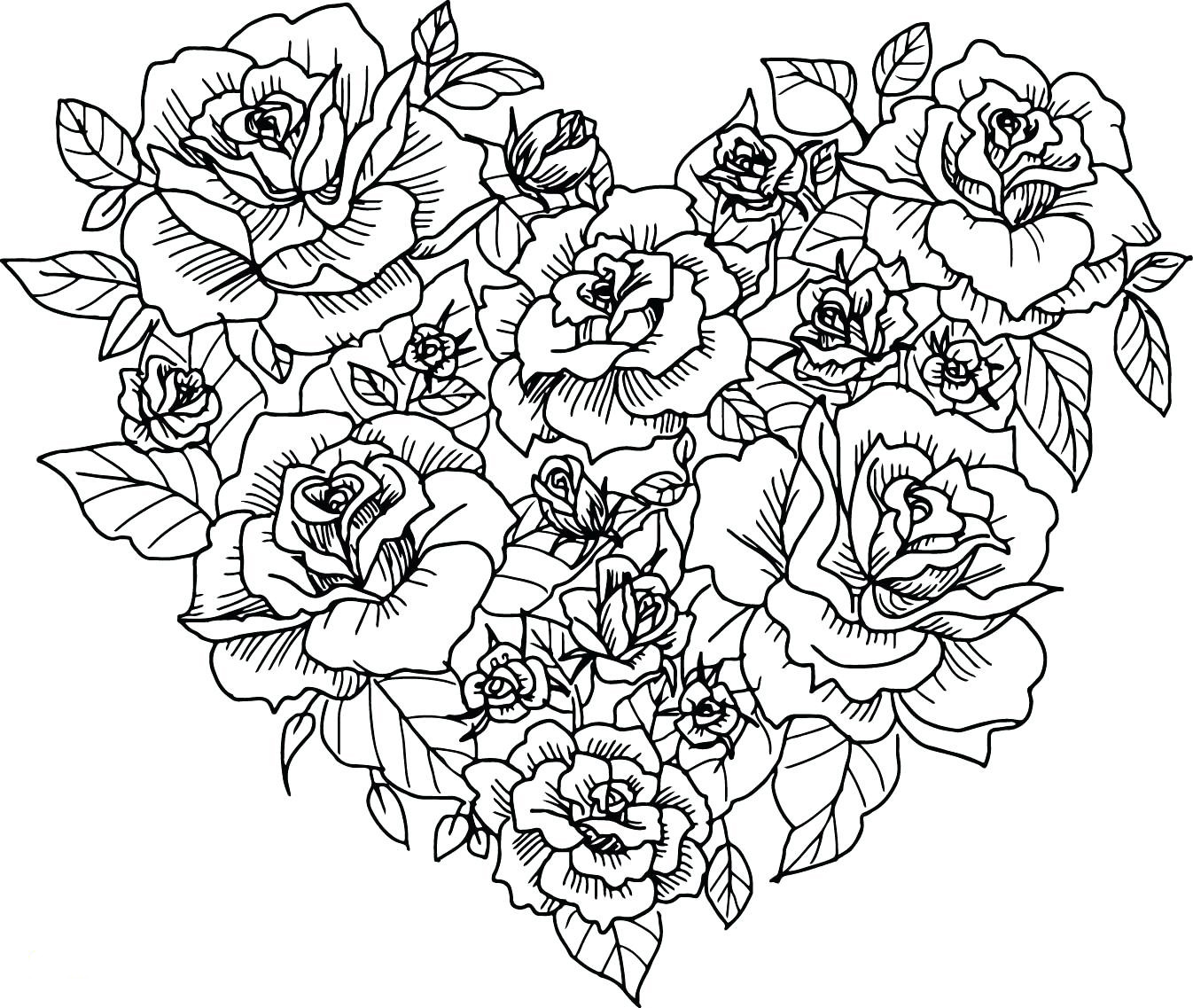 Best ideas about Artful Flower Heart Coloring Sheets For Girls Flowers . Save or Pin Hearts Coloring Pages for Adults Best Coloring Pages For Now.
