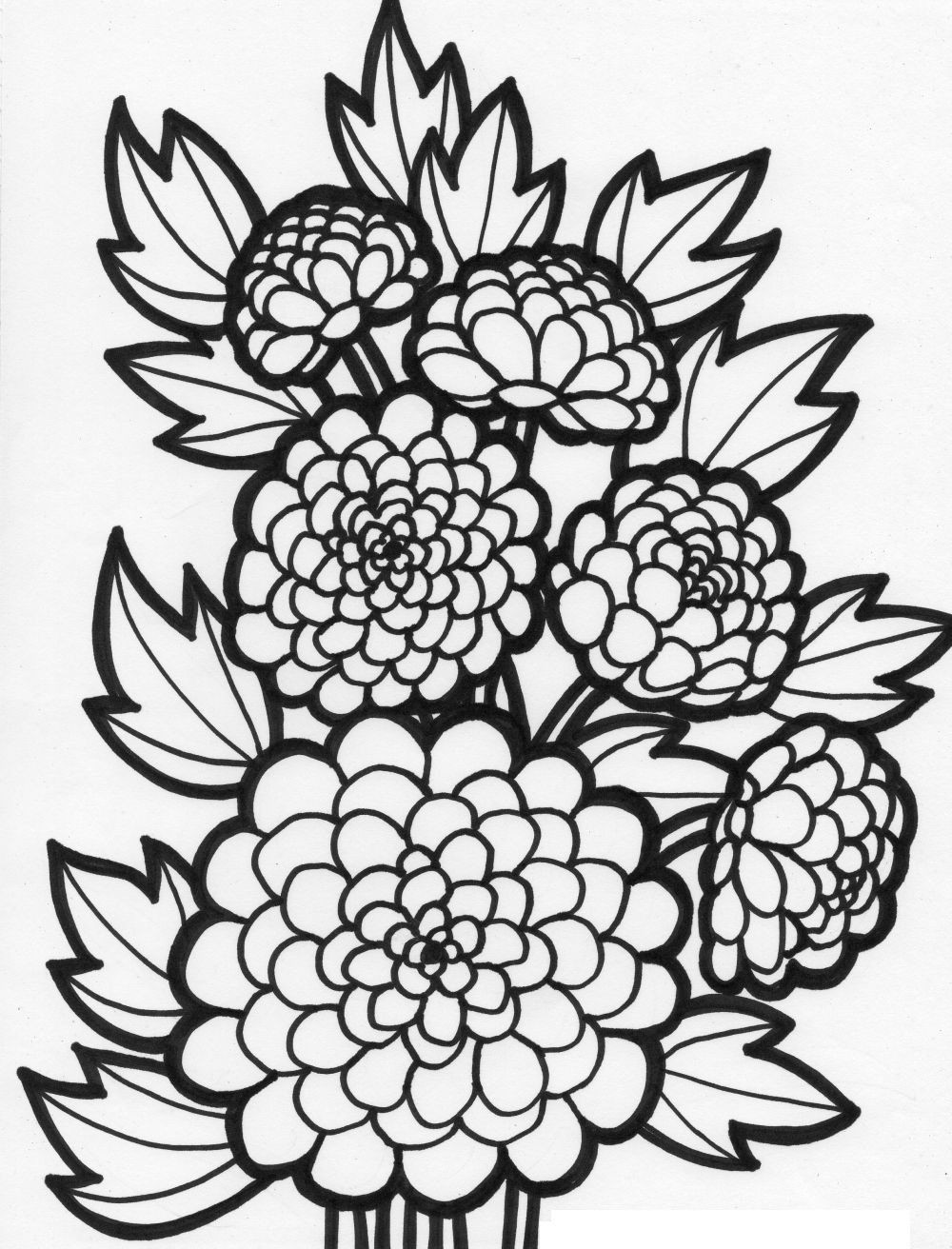 Best ideas about Artful Flower Heart Coloring Sheets For Girls Flowers . Save or Pin Flower Coloring Pages For Girls 10 And Up Coloring Home Now.