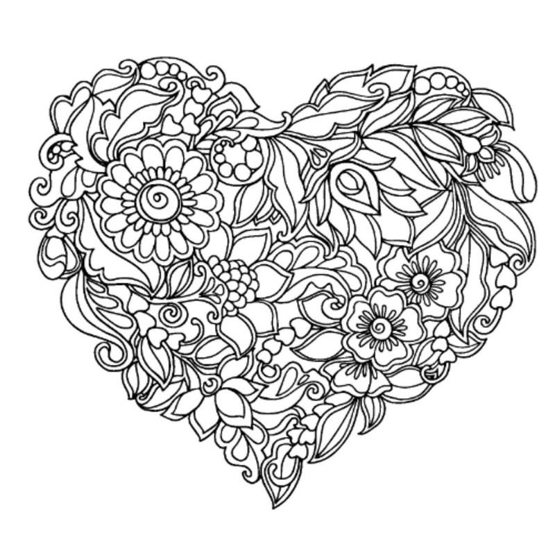 Best ideas about Artful Flower Heart Coloring Sheets For Girls Flowers . Save or Pin Kolorowanki dla dorosłych Serce do wydruku część 2 Now.