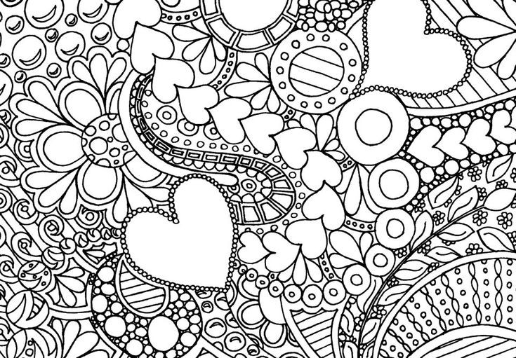 Best ideas about Artful Flower Heart Coloring Sheets For Girls Flowers . Save or Pin Hearts and Flowers Doodles & Colouring Pages Now.