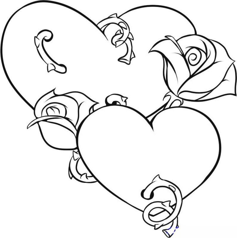 Best ideas about Artful Flower Heart Coloring Sheets For Girls Flowers . Save or Pin Kolorowanki dla dorosłych Serce do wydruku część 4 Now.