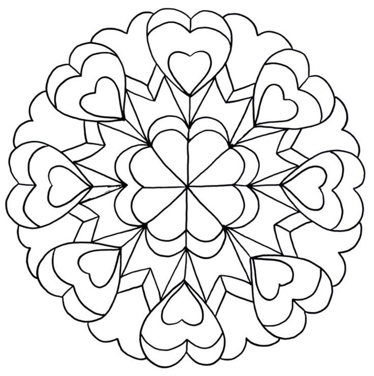 Best ideas about Artful Flower Heart Coloring Sheets For Girls Flowers . Save or Pin Coloring Pages for Teenagers Dr Odd Now.