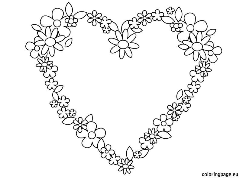 Best ideas about Artful Flower Heart Coloring Sheets For Girls Flowers . Save or Pin Nos jeux de coloriage Coeur à imprimer gratuit Page 2 of 13 Now.