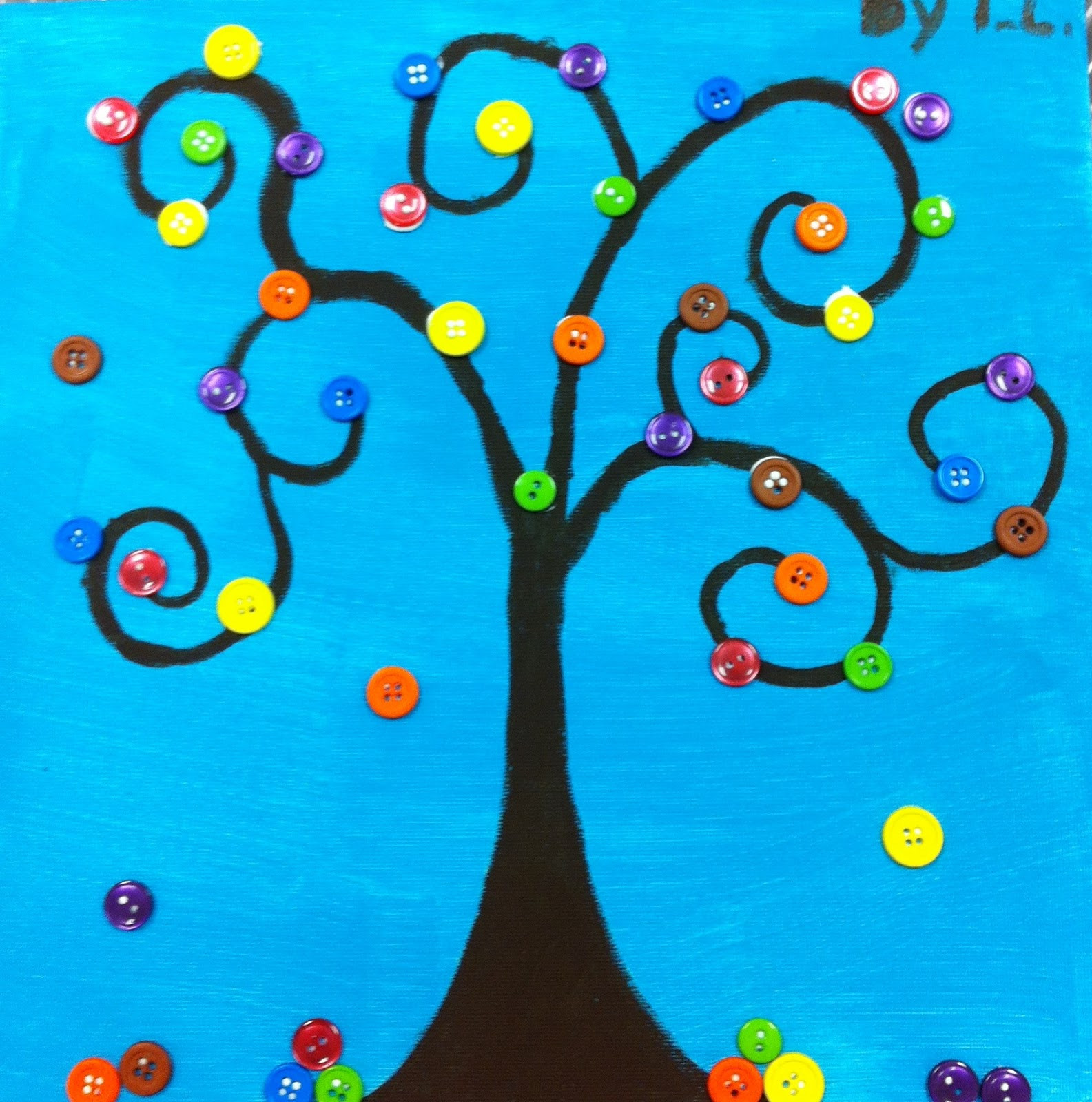 Best ideas about Arts And Crafts For Children . Save or Pin Angela Anderson Art Blog Button Trees Kids Art Class Now.