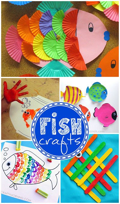 Best ideas about Arts And Crafts For Children . Save or Pin Creative Little Fish Crafts for Kids Crafty Morning Now.