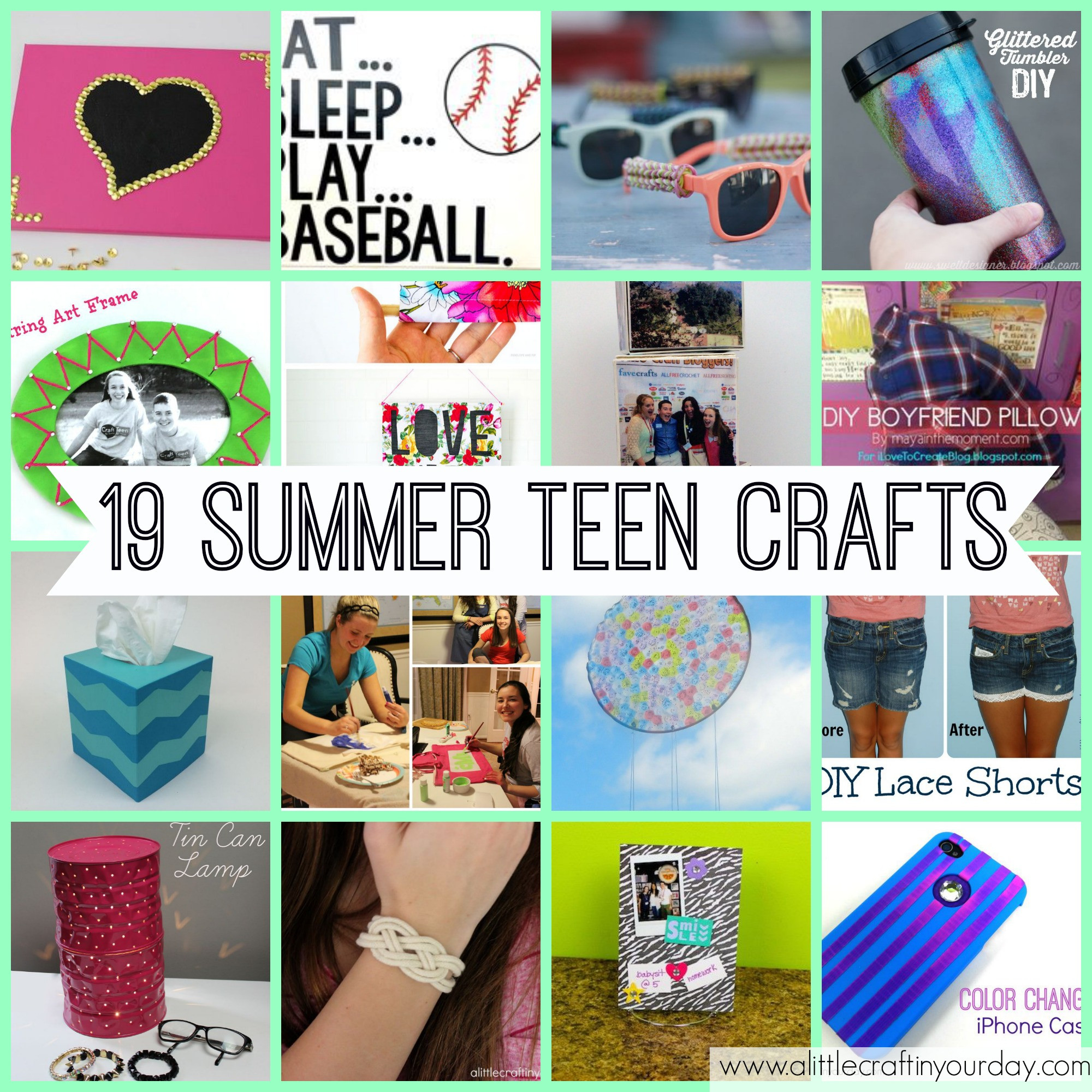 Best ideas about Arts And Crafts For Teenager . Save or Pin 19 Teen Crafts for Summer A Little Craft In Your Day Now.