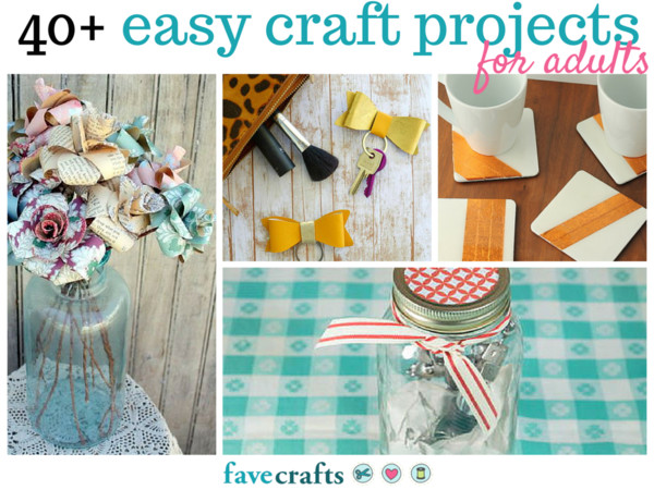 Best ideas about Arts And Crafts Projects For Adults . Save or Pin 44 Easy Craft Projects For Adults Now.