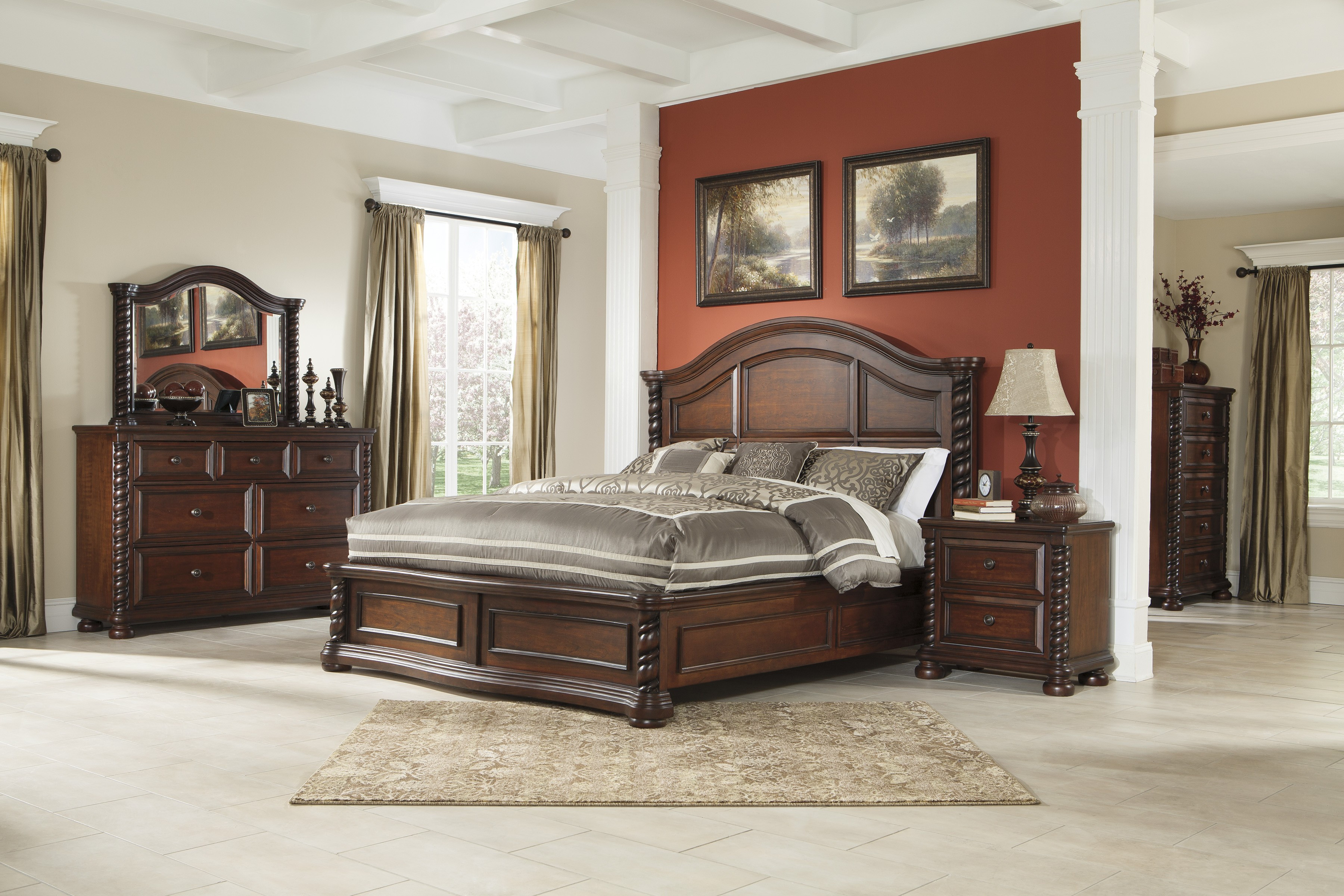 Best ideas about Ashley Bedroom Furniture . Save or Pin Brennville Bedroom Set by Ashley Furniture Depot Red Now.