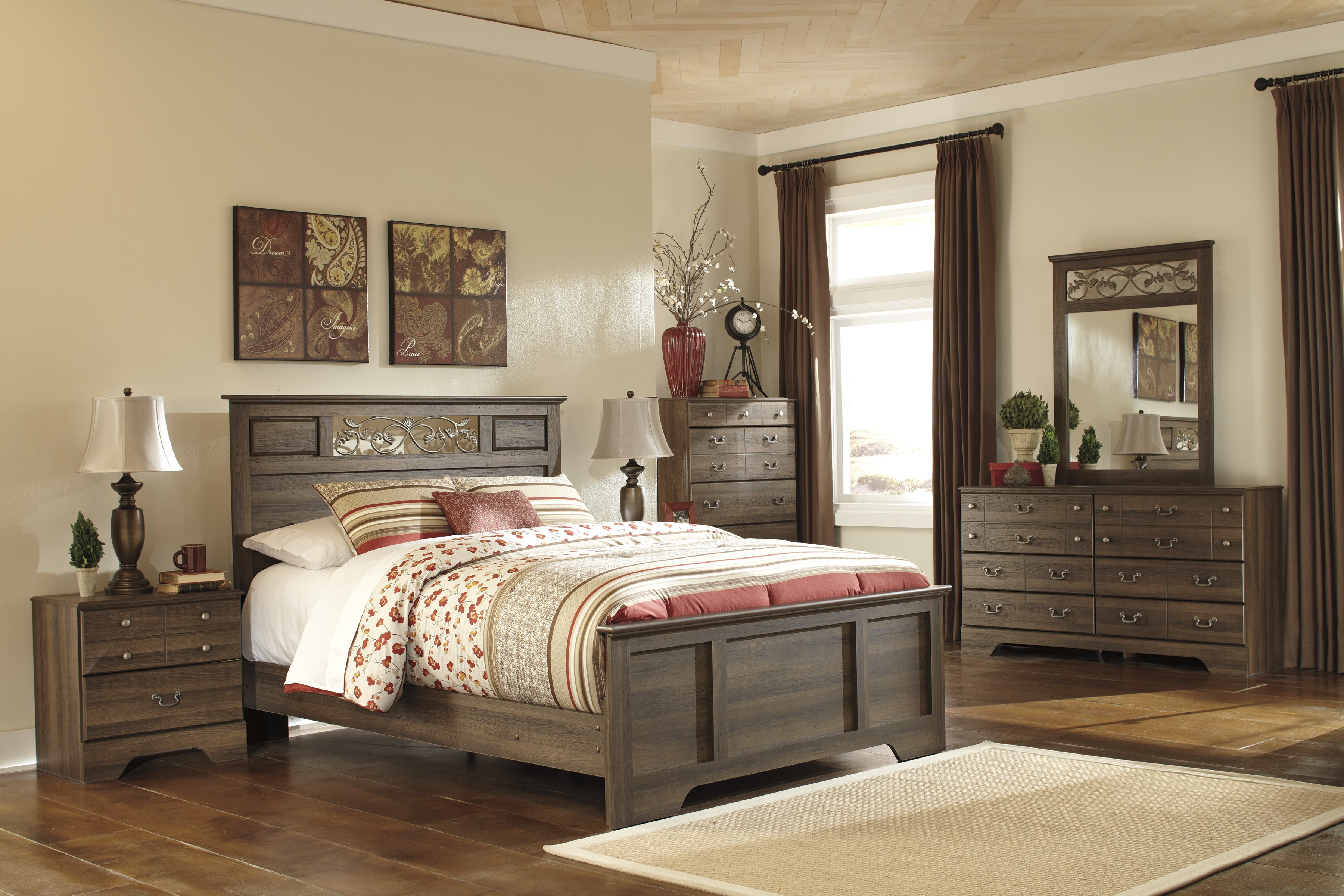 Best ideas about Ashley Bedroom Furniture . Save or Pin Allymore Panel Bedroom Set from Ashley B216 55 51 98 Now.