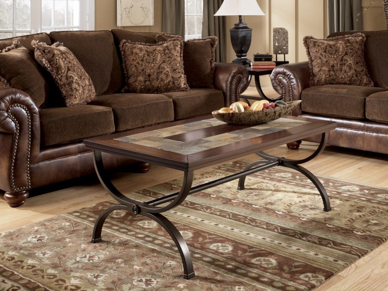 Best ideas about Ashley Furniture Coffee Tables . Save or Pin Round coffee table and end tables ashley tile top table Now.