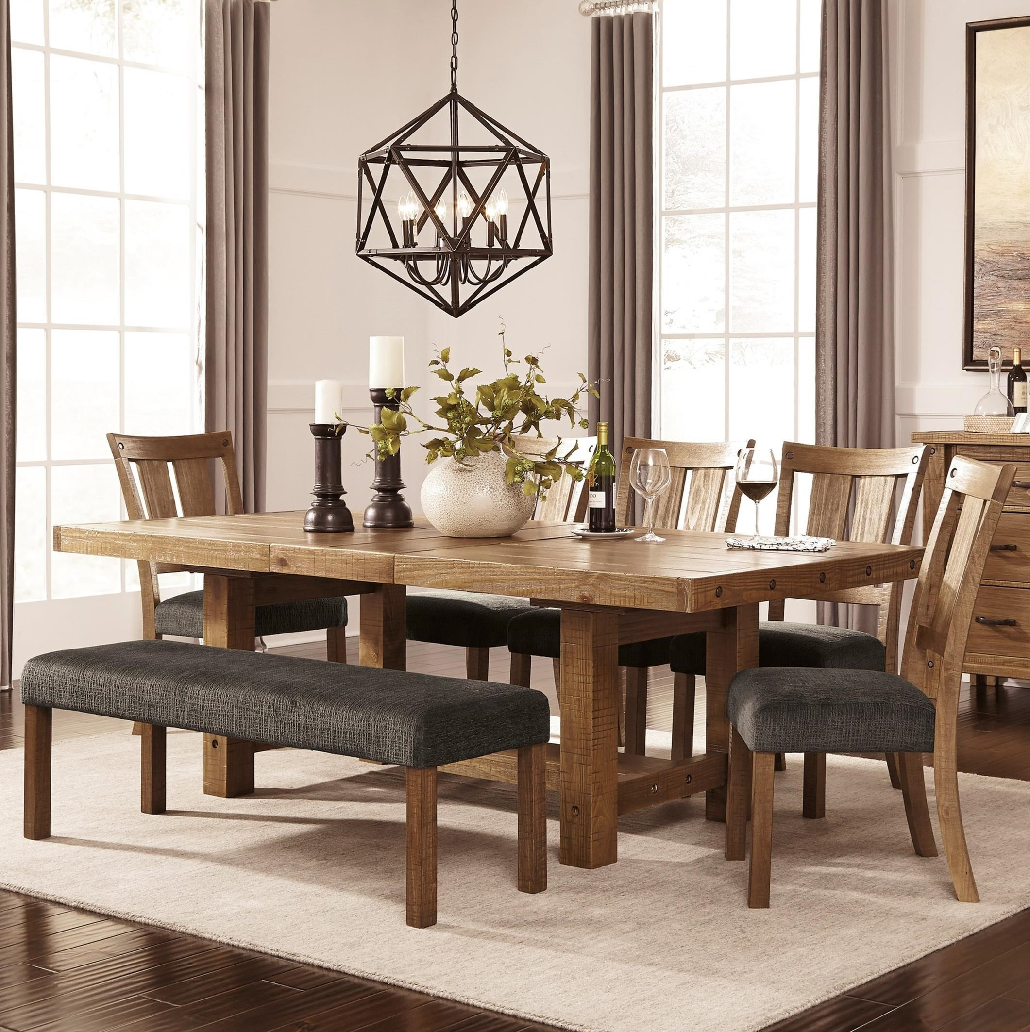 Best ideas about Ashley Furniture Dining Table . Save or Pin 7 Piece Table & Chair Set with Bench by Signature Design Now.