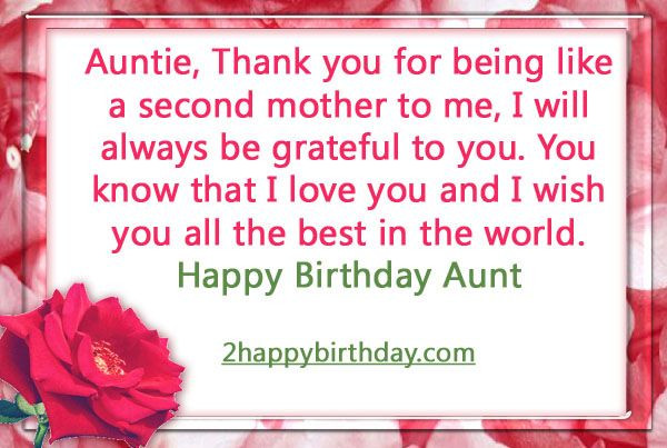 Best ideas about Aunt Birthday Wish . Save or Pin 17 Best ideas about Birthday Wishes For Aunt on Pinterest Now.