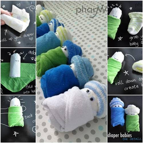 Best ideas about Babies Crafts Ideas . Save or Pin Learn How To Make Cute Adorable Diaper Babies Find Fun Now.