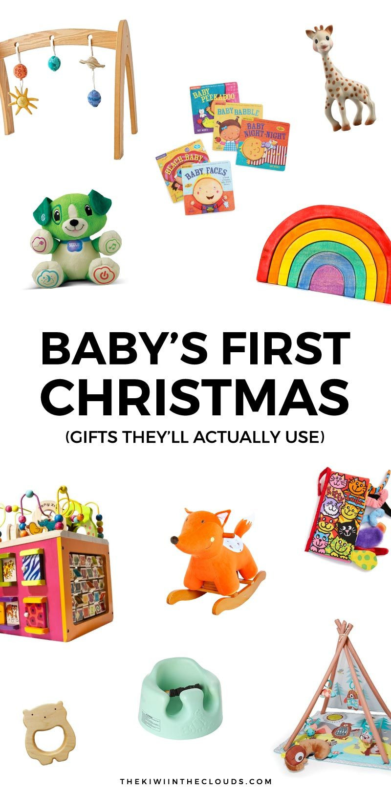 Best ideas about Baby 1St Christmas Gift Ideas . Save or Pin 11 Baby s First Christmas Gifts That Will Actually Get Used Now.