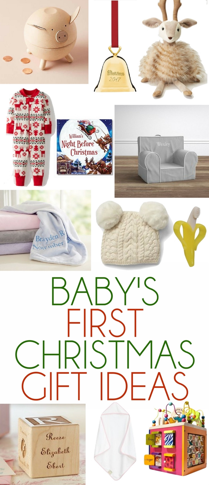 Best ideas about Baby 1St Christmas Gift Ideas . Save or Pin Baby s First Christmas Gift Ideas Lovely Lucky Life Now.