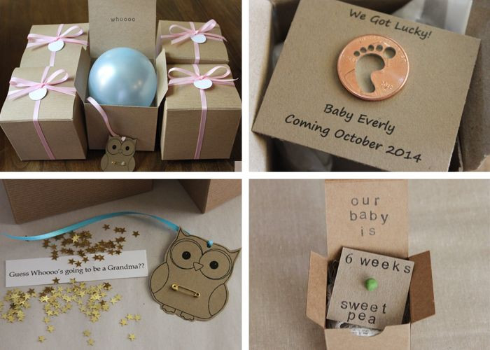 Best ideas about Baby Announcement Gift Ideas . Save or Pin 12 creative pregnancy announcement ideas Now.