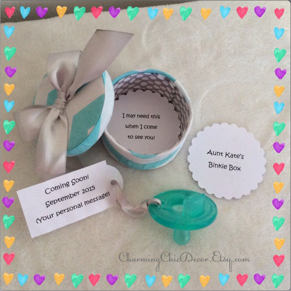 Best ideas about Baby Announcements Gift Ideas . Save or Pin Cute Binkie Box Pregnancy Announcement This adorable Now.