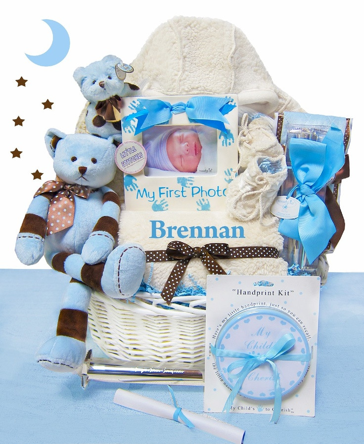 Best ideas about Baby Arrival Gift Ideas . Save or Pin 1000 ideas about Baby Boy Gift Baskets on Pinterest Now.