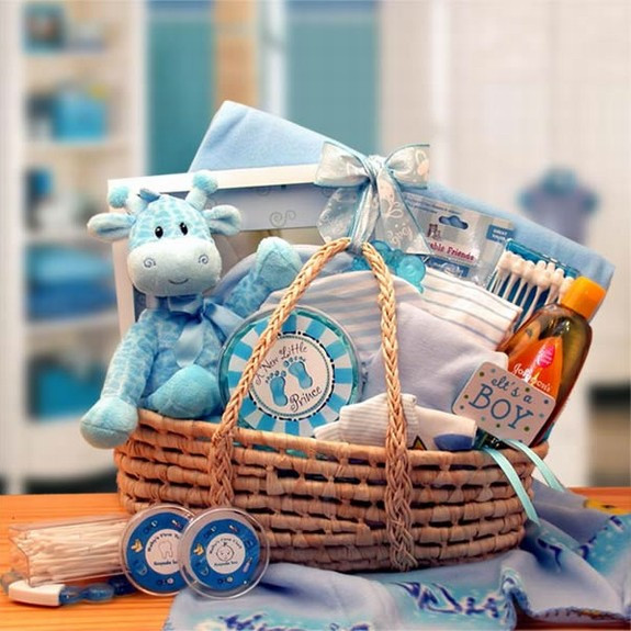 Best ideas about Baby Arrival Gift Ideas . Save or Pin New Arrival Blue Baby Carrier Gift Basket Now.