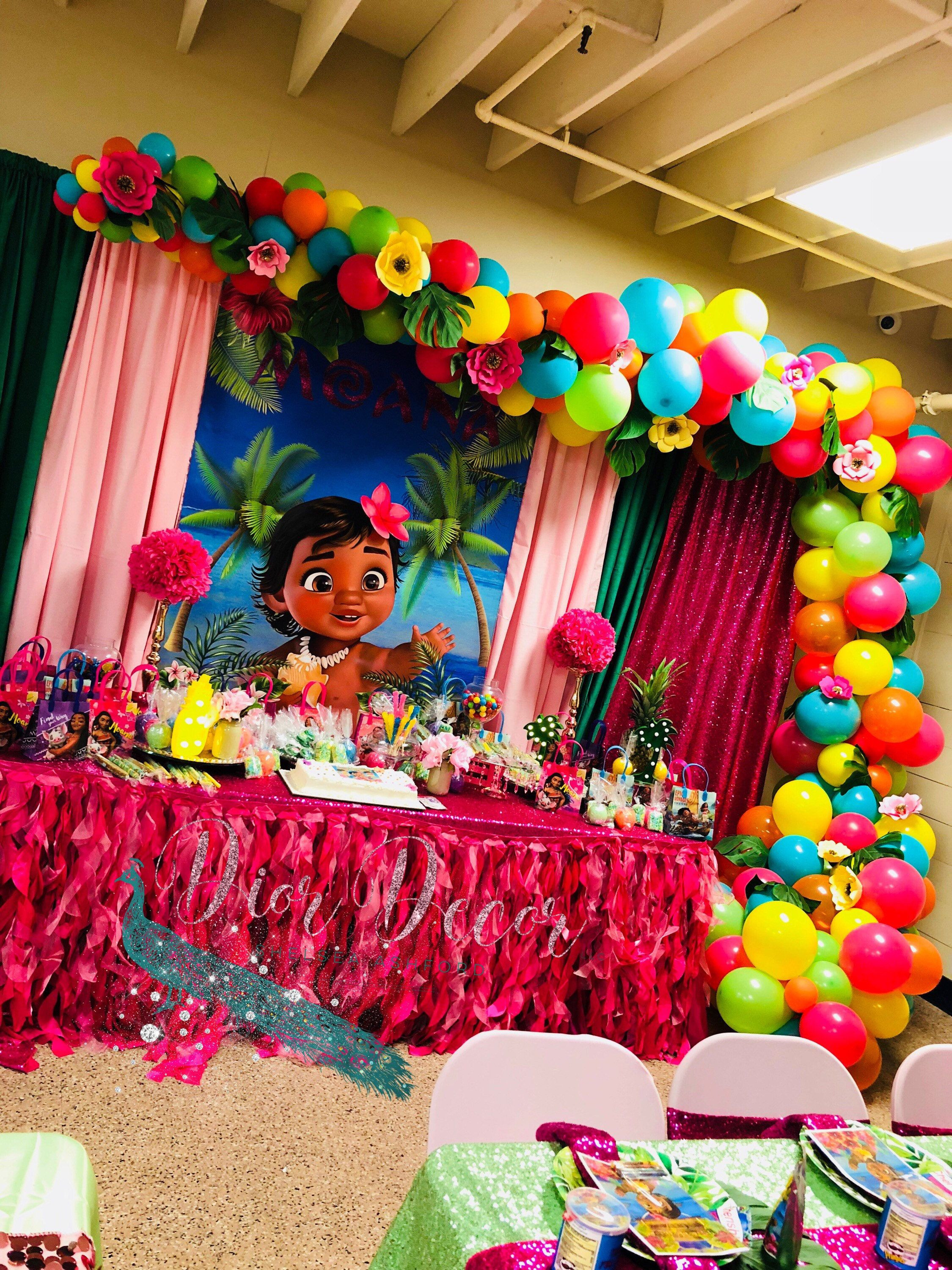 Best ideas about Baby Birthday Decorations . Save or Pin Baby Moana Backdrop Baby Moana Banner Baby Moana Party Now.