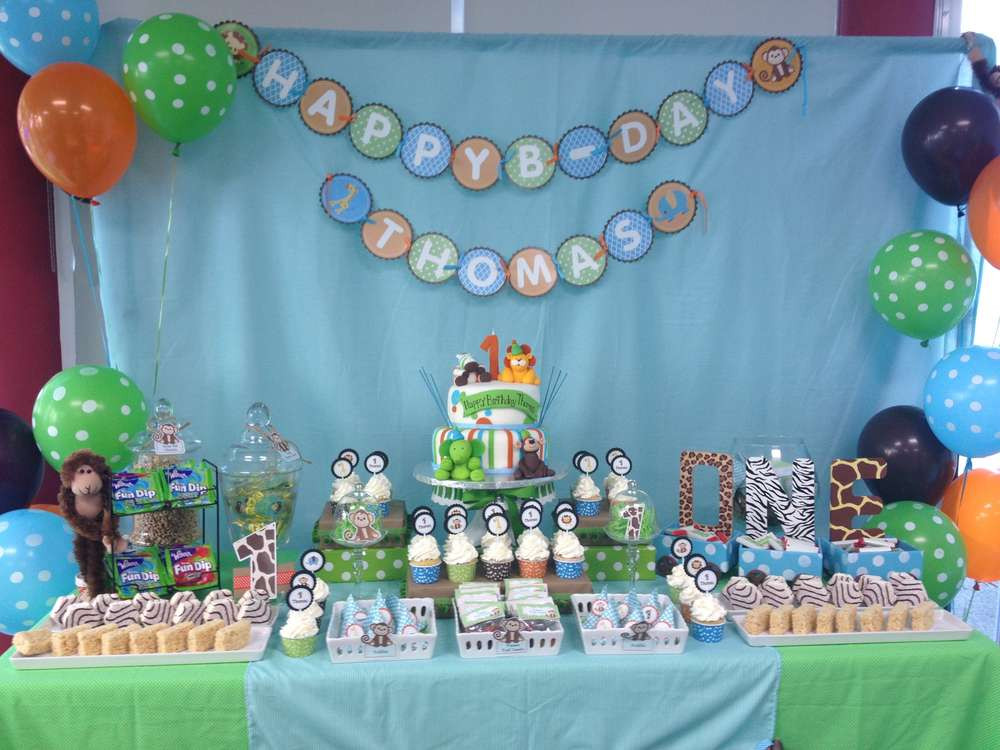 Best ideas about Baby Birthday Decorations . Save or Pin Baby Safari Birthday Party Ideas 1 of 16 Now.